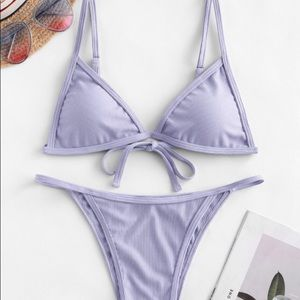 NWT Zaful purple bikini set